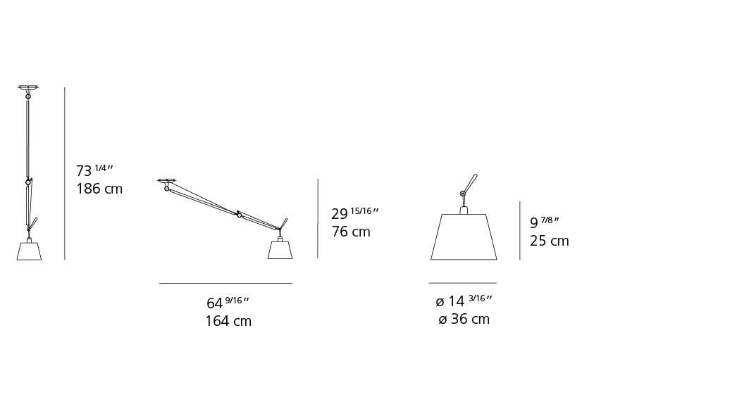 Tolomeo Off Center Wshade Suspension Inspiration Materials And