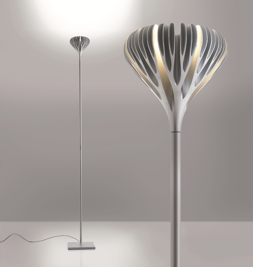 artemide products honored at the compasso d'oro  artemide north  - the floral shape of the lamp works to diffuse indirect light and interactswith air to promote heat dissipation through the branches